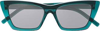 Saint Laurent Eyewear Óculos de sol gatinho New Wave - Verde
