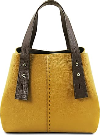 Tuscany Leather Borsa shopping in pelle Senape 4c67d8daa8d