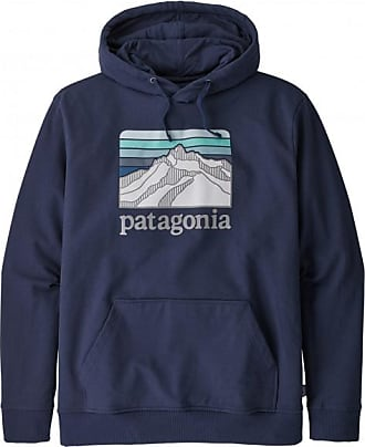 Patagonia Line Logo Ridge Uprisal Hoody Hoodie für Herren | blau/schwarz