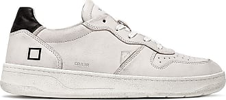D.A.T.E. court leather white-black
