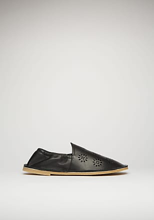 Acne Studios FN-WN-SHOE000284 Black Perforated leather loafers