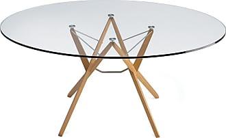 ZANOTTA Design Orione Table Oak & Glass
