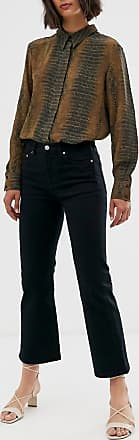 & Other Stories cropped flare jeans in black