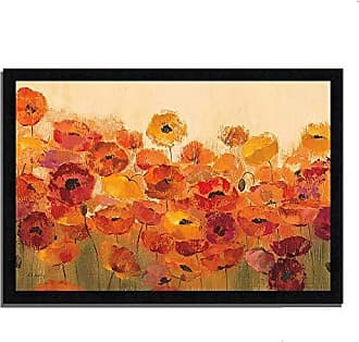 Tangletown Fine Art Summer Poppies Framed Art Orange/Yellow/Red