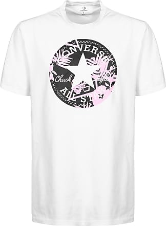 ae083ccf190eed Converse All Star Big Floral Logo T-Shirt 102 White 10005874 Large