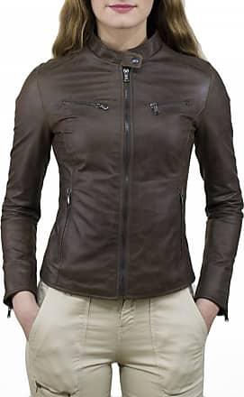 Leather Trend Italy Vanessa - Giacca Donna in Vera Pelle colore Testa di Moro Oil Vintage