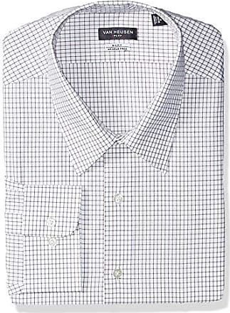 Van Heusen Mens Tall Dress Shirts Big Fit Flex Check, Desert, 19 Neck 34-35 Sleeve