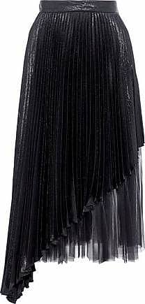 91dad6240c Christopher Kane Christopher Kane Woman Layered Tulle And Pleated Lamé  Silk-blend Midi Skirt Black