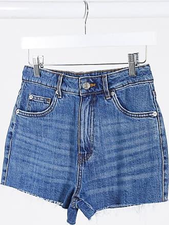 Pimkie mom shorts with raw hem in blue