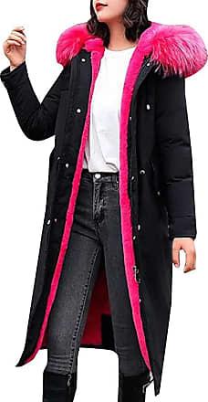 VITryst Fashion Womens Long Down Coat with Fur Hood Maxi Down Parka Puffer Jacket,4,X-Small