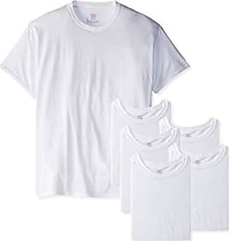 Hanes Red Label Mens Freshiq Comfortsoft Crewneck T-Shirt (Bonus Pack) - White