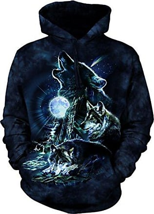 The Mountain Bark At The Moon Hsw Adult Hoodie, Blue, Medium