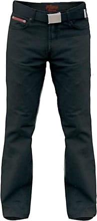 Duke London D555 Mario Bedford Cord Trouser with Belt Black|58W34L