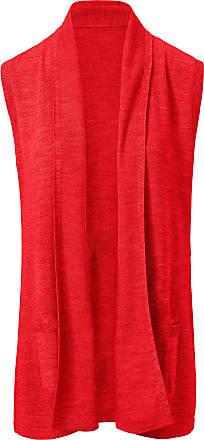 Peter Hahn Knitted gilet in 100% new milled wool BIELLA YARN Peter Hahn red