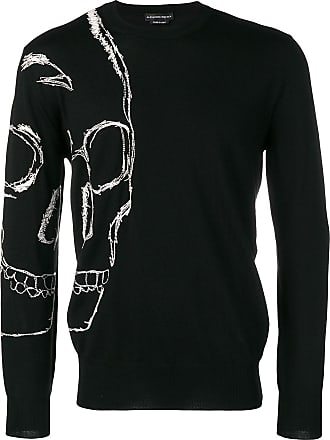 Alexander McQueen skull crew neck jumper - Black