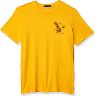 Obey Mens Eagle Switchblade SS Superior TEE T-Shirt, Baked Yellow, Medium