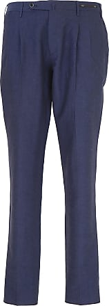 PT01 Pants for Men On Sale, Bluette, linen, 2017, 32 34 36 38