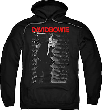 Popfunk David Bowie Station to Station Unisex Adult Pull-Over Hoodie for Men and Women Black
