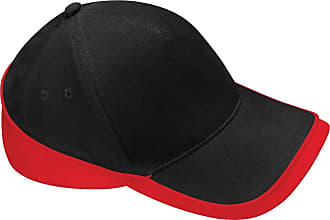 Beechfield Teamwear Competition Cap, Black/Classic Red, One size