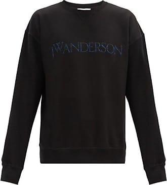 J.W.Anderson Logo-embroidered Cotton-jersey Sweatshirt - Mens - Black