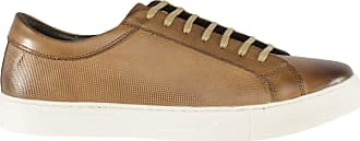Ikon Bruno Mens Leather Casual Trainers Tan UK 11
