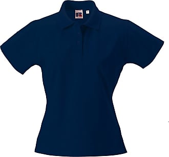 Russell Athletic Russell Womens Pima Cotton Polo Shirt - Classic Sports Top French Navy XS