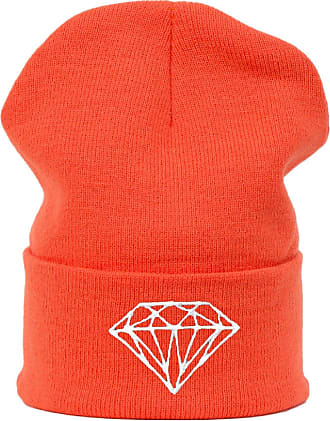 morefaz Mens Womens Oversized Baggy Beanie Hat Winter Warm Bad Hair Day Bone Me Your Mom Cap Diamond orange MFAZ Morefaz Ltd
