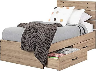 South Shore Furniture 12169 Fakto Bed Set with 2 Drawers, Twin, Rustic Oak