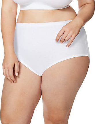 Just My Size Cool Comfort3; High-Waist Womens Cotton Brief Panties - 5-Pair Pack Assorted 10