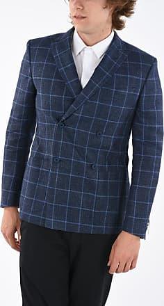 Corneliani CC COLLECTION giacca doppiopetto REWARD windowpane check rev taglia 50