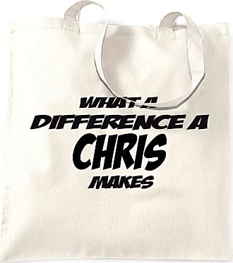 Tim And Ted Novelty Tote Bag What A Difference A Chris Makes - (White/One Size)