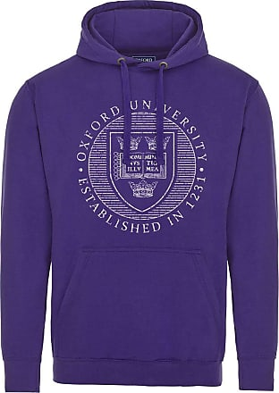 Oxford University Official Distressed Crest Hoodie - Purple - Medium