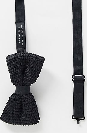 Religion knitted bow tie-Black