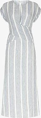 Three Graces London Tilde Dress in Marine Stripe