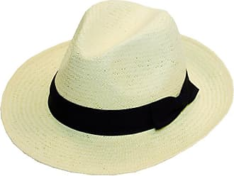 Hawkins Mens Foldable Straw in Panama Shape-Style With Black Band Summer Sun Hat