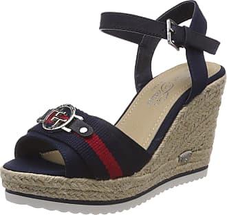 5e6221e0f55 Tom Tailor Womenss 4890210 Ankle Strap Sandals Blue (Navy) 4.5 UK