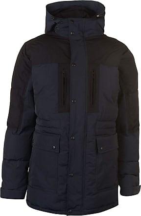 Firetrap Mens Parka Jacket Black/Navy XXL