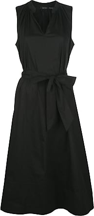 Natori Vestido evasê com amarração na cintura - Preto
