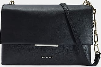 Ted Baker Leather Envelope Cross Body Bag in Black DIILILA, Womens Accessories