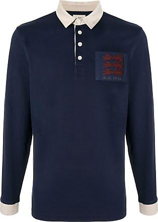Kent & Curwen Three Lions rugby shirt - Blue