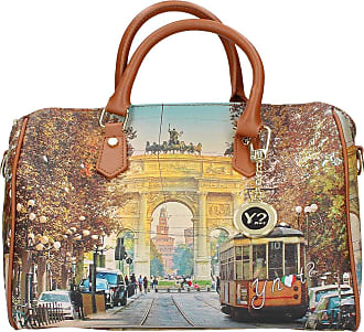 Y Not YNOT Boston Bag YES-318F0 TAN-MILAN 29.5 x 21 x 17.5 cm