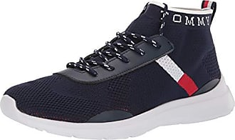 Tommy Hilfiger Mens H-Cabello Sneaker, Dark Blue Fabric, 13 M US