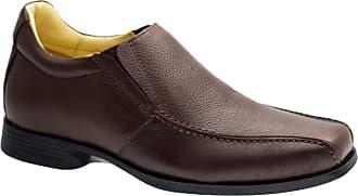 Doctor Shoes Antistaffa Sapato Masculino Linha Up (5 cm + alto) 5498 em Couro Floater Café Doctor Shoes-Cafe-41
