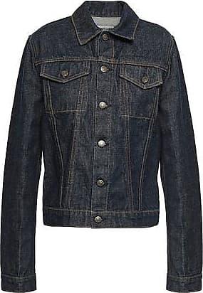 Helmut Lang Helmut Lang Woman Coated Denim Jacket Dark Denim Size XS