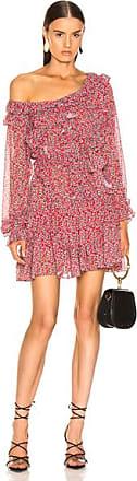 Marissa Webb Everett Print Mini Dress in Floral,Red