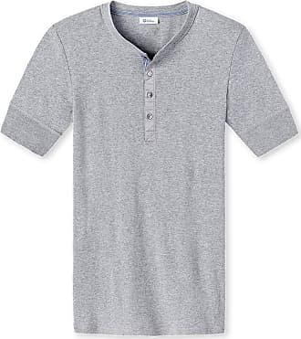 Schiesser Mens Shirt Karl-Heinz, Short Sleeve - Grey Mix 202, 8/XXL