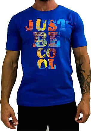 MXD Conceito Camiseta Tradicional Masculina MXD Conceito Just Be Cool Apenas Seja Legal (Azul, GG)