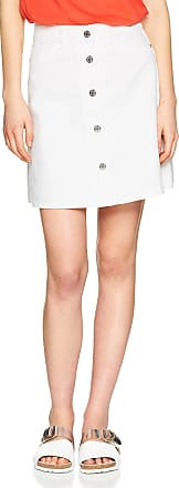 Noisy May Womens Nmsunny Shortdnm Skaterskirt Gu125 Noos Skirt, White (Bright White Bright White), 34 (Size: X-Small)