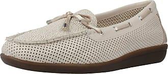 24 Horas Women Lace Shoes Women Mocasin BORLAS Beige 8 UK