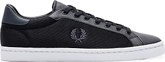 Fred Perry TÊNIS MASCULINO LAWN LEATHER - PRETO